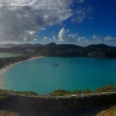 View from above Deep Bay, Antigua