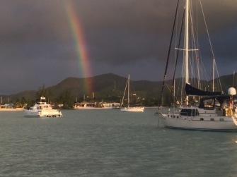 Rainbows equals - rain!