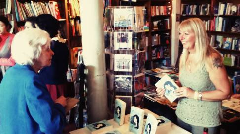 Signing copies of Laura's List at The Winding Stair Bookshop in Dublin