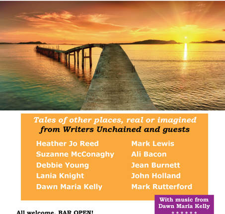 Tonight's the Night! Come and enjoy your local Writers – and Singer! :)
